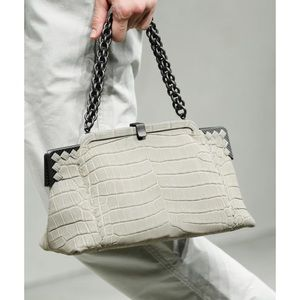 Bottega Veneta Ardoise Gray crocodile skin bag